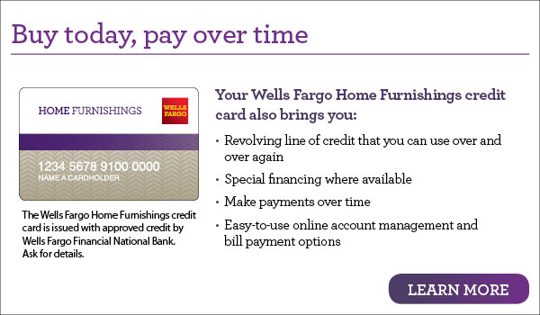 Wells Fargo Financing at Martinez Furniture & Appliance
